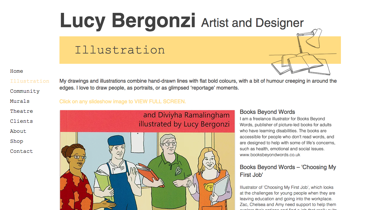 Lucy Bergonzi Illustration page